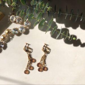 Vintage Goldette Chandelier Earrings
